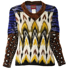 Kenzo Vintage Textured Knit Sweater