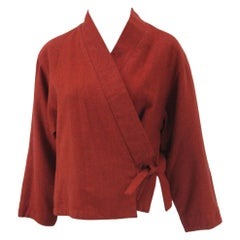 Kenzo Wool Wrap Kimono Jacket