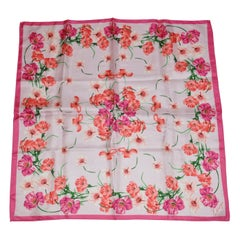 """Kenzo's Multi Color """"Spring Poppies Blooming"""" Silk Scarf"""