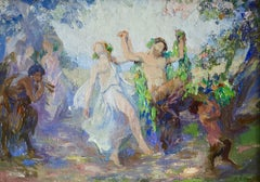 Bacchanale - 20th Century, Mythological Figures Dancing in Landscape by Roussel