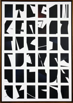 Black & White by Kera - Contemporary Geometric Abstraction with black and white