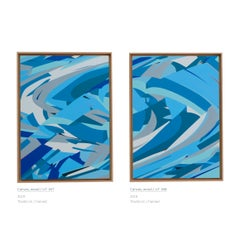 Diptych Untitled 047 & 048 by Kera - Contemporary Geometric Abstraction
