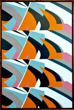 Waves by Kera - Contemporary Geometric Abstraction with black and white