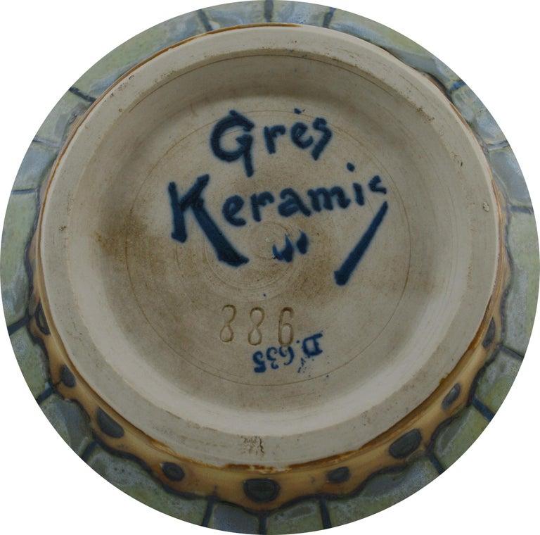 Keramis, Charles Catteau, Stoneware Vase, 1920 In Excellent Condition For Sale In Saint-Amans-des-Cots, FR