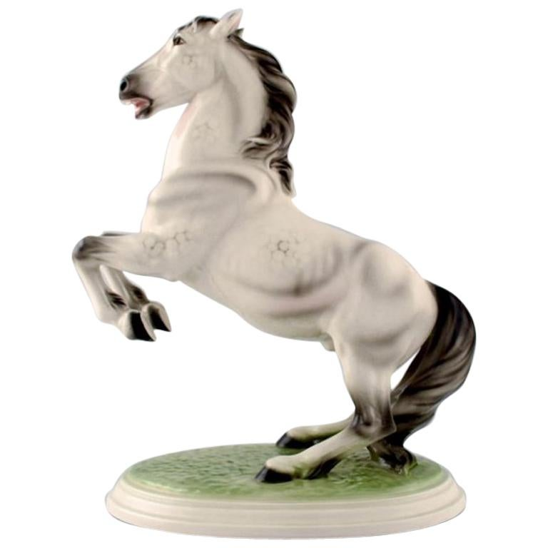 Keramos, Vienna, Rearing Horse, Beautiful Figure, circa 1940