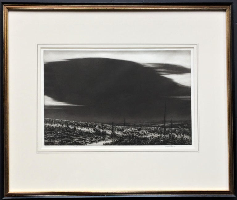 September 13, 1918. St. Mihiel [The Great Black Cloud]. 1934. Etching, aquatint and sandpaper ground. Giardina catalog  182 state iv. 10 3/8 x 16 (sheet 13 1/8 x 18 1/4). Edition 100. Illustrated: Prints vol. VI, no. 2, 1935, page 85; Print