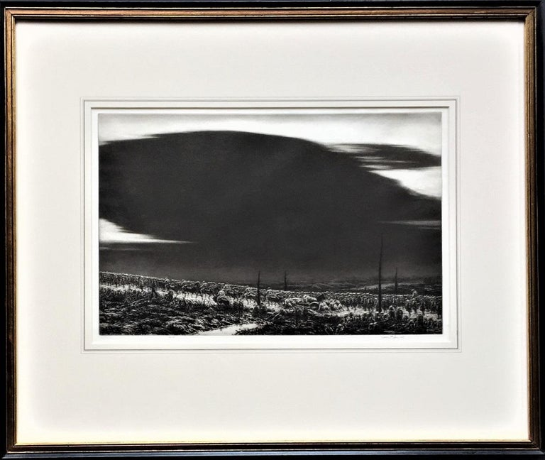 Kerr Eby, N.A. Figurative Print - September 13, 1918. St. Mihiel [The Great Black Cloud].