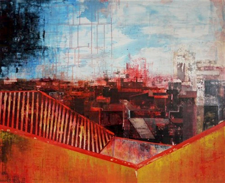 Kerri Pratt is a painter working and living in Derbyshire, East Midlands.  She works with a formal approach using drawing and photography to investigate form, structure, texture and space. Inspired by travel and encounters with new places, most