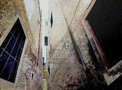 Urban Vista - Abstract Street Scene by Kerri Pratt, Black, Yellow, Red