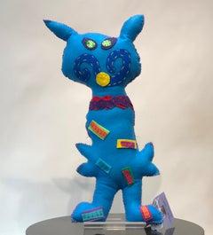 Free Range Critter, Soft Sculpture, Blue, Pink, mustache, boots, Santa fe, fun