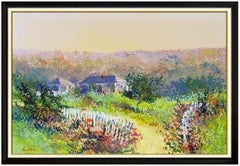 Kerry Hallam Original Oil Painting on Canvas Large Landscape Signed Framed Art