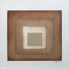 """Fade II"" - Contemporary Geometric Abstract Paintings - Josef Albers"