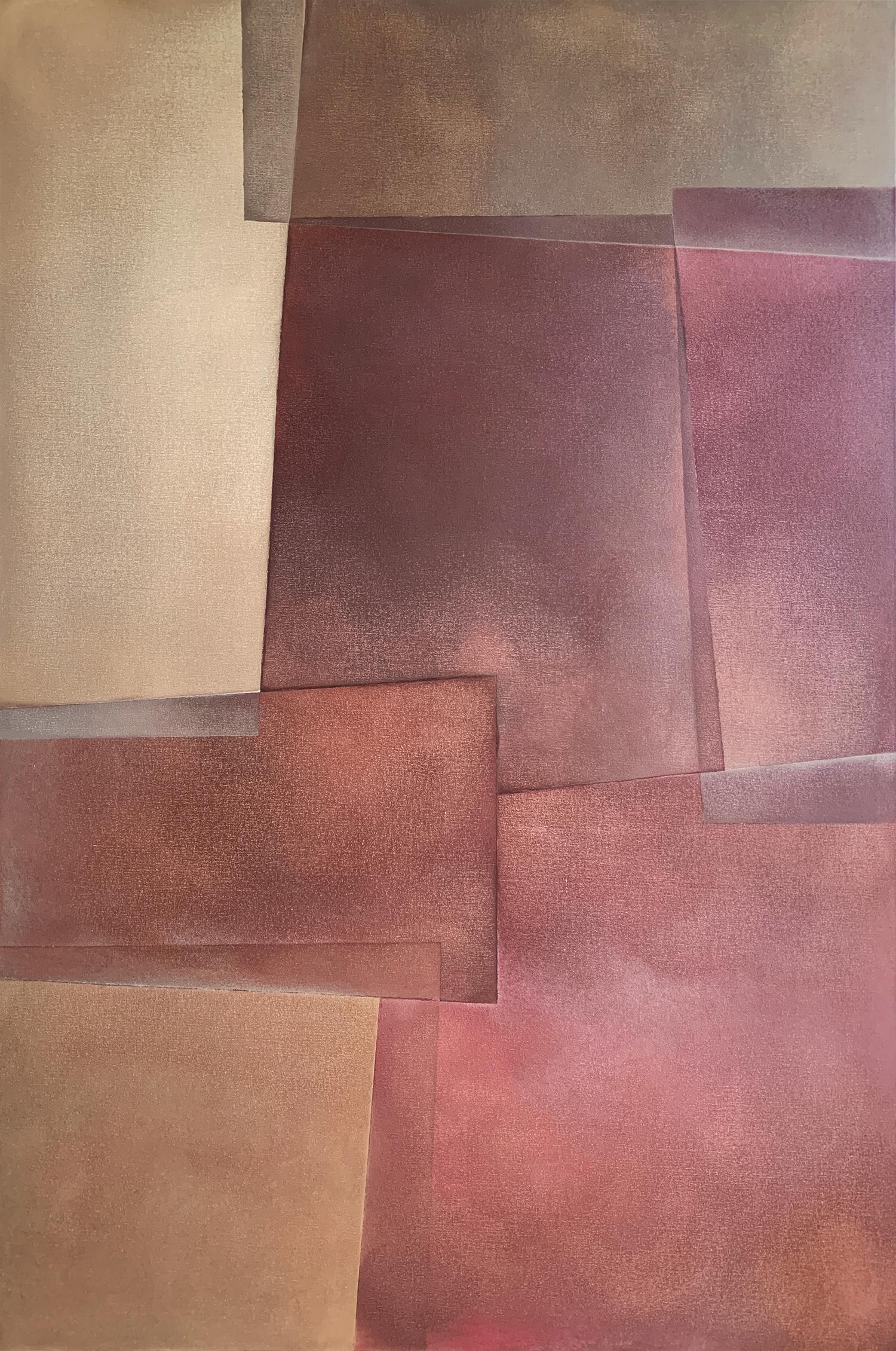 """Reactions XXVI"" - Contemporary Geometric Abstract Paintings - Josef Albers"