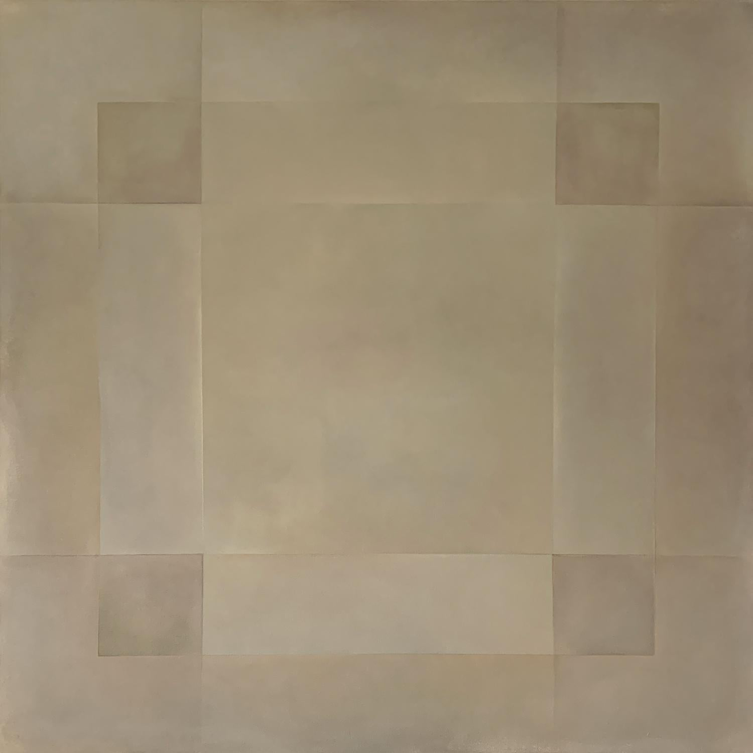 """""""Reactions XXVII"""" - Contemporary Geometric Abstract Paintings - Agnes Martin"""
