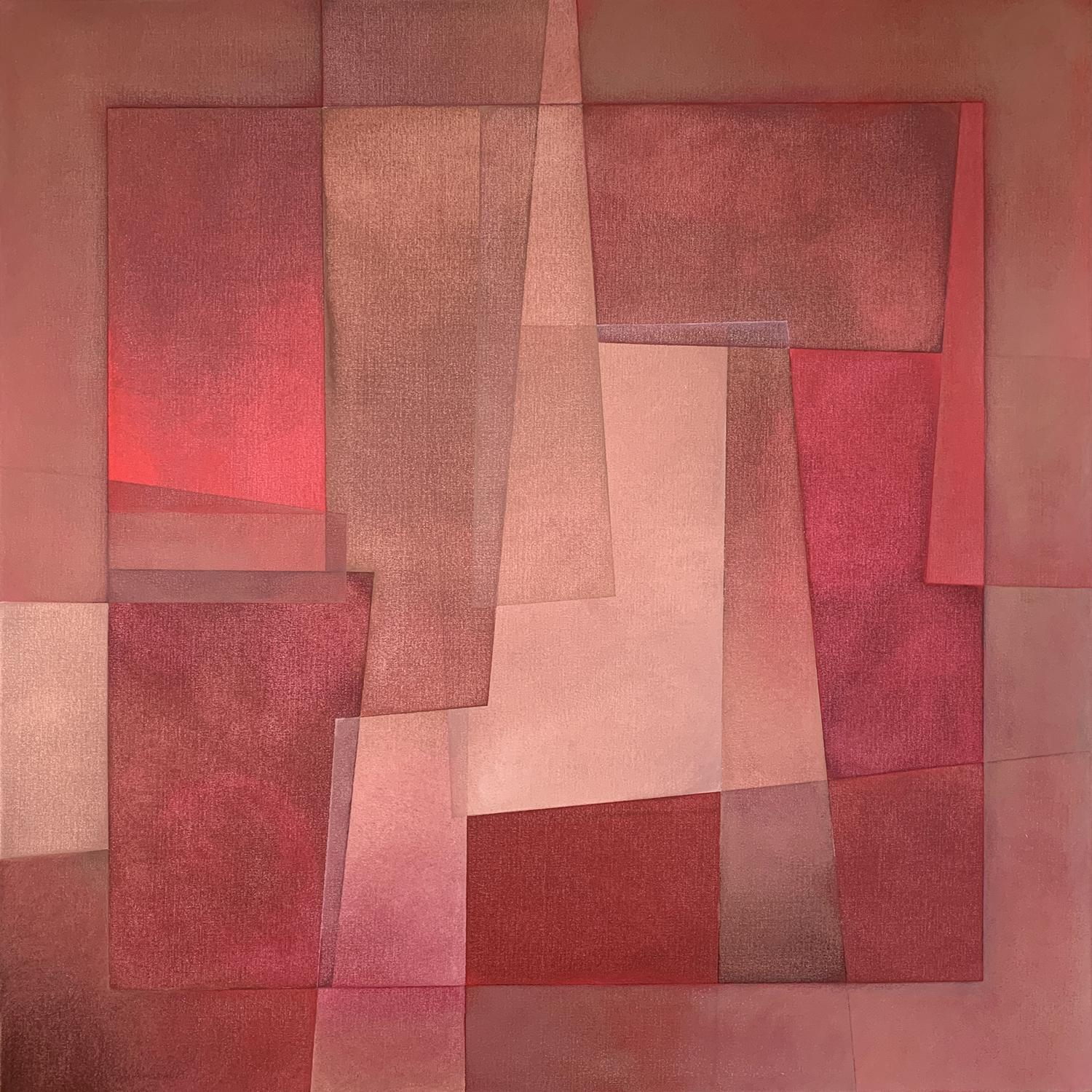 """""""Reactions XXVIII"""" - Contemporary Geometric Abstract Paintings - Josef Albers"""
