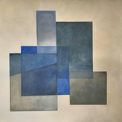"""""""Reactions XXXII"""" - Contemporary Geometric Abstract Paintings - Josef Albers"""