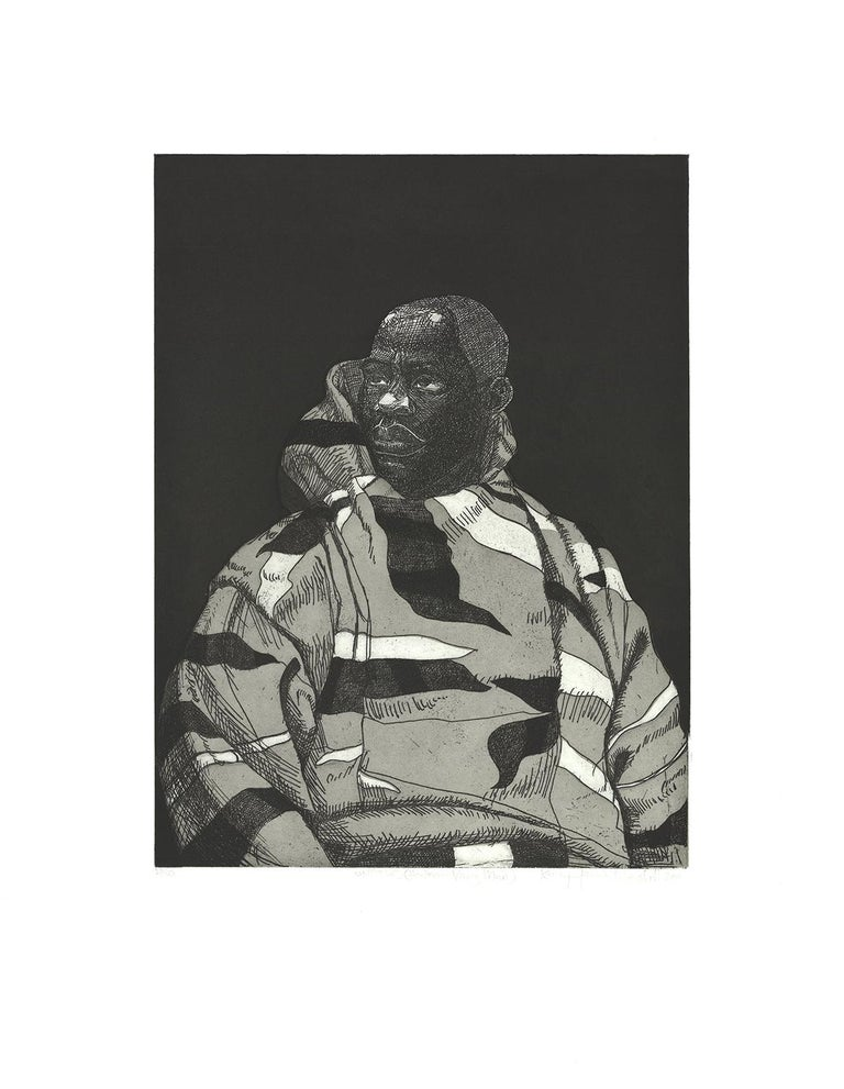 """Kerry James Marshall-Untitled (Handsome Young Man)-24.5"""" x 19""""-Etching-2010 - Print by Kerry James Marshall"""