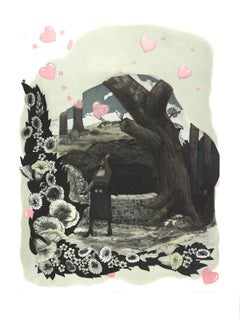 "Kerry James Marshall-Vignette (Wishing Well)-53"" x 40.5""-Etching-2010"