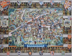 Kerry Lee 'Cambridge' 1947 Original Vintage Poster pictorial map University