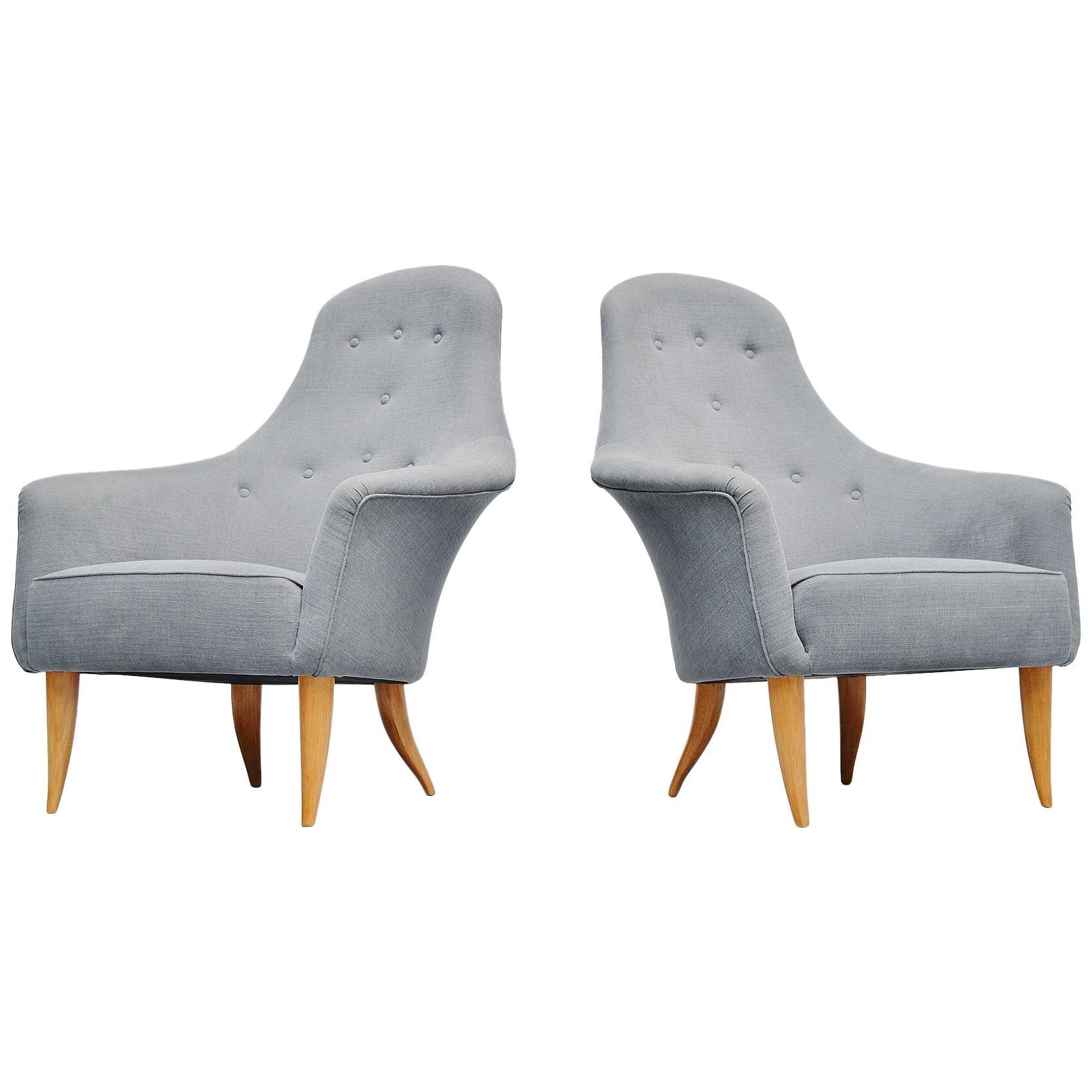 Kerstin Hörlin-Holmquist Adam Lounge Chairs Nordiska, 1958
