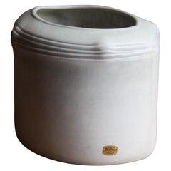 Kerstin Hörnlund, Vase / Vessel, Grey-Glazed Stoneware, Rörstrand, Sweden, 1960s