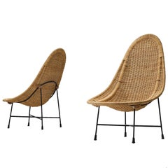 Kerstin Hörlin-Holmquist 'Stora Kraal' Cane Side Chairs