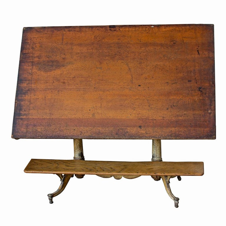 Industrial Nike Drafting Table Ca 1950: Keuffel And Esser #2583 Drafting Table At 1stdibs
