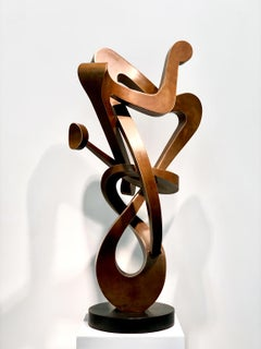 """Angel"" by Kevin Barrett, Unique Bronze Abstract Metal Sculpture"