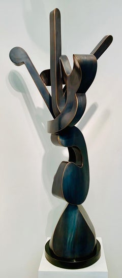 """Avalon"", Kevin Barrett, Unique Fabricated Bronze Abstract Sculpture"