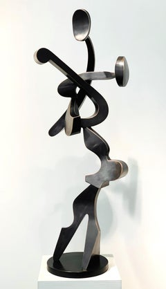 """Encore"", Kevin Barrett, Unique Bronze Abstract Metal Tabletop Sculpture"