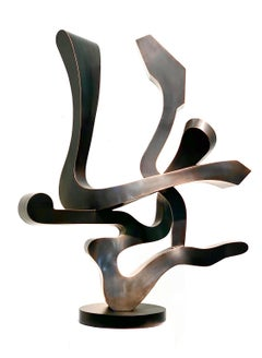 """Guided Spirit"" by Kevin Barrett, Unique Welded Bronze Abstract Sculpture"