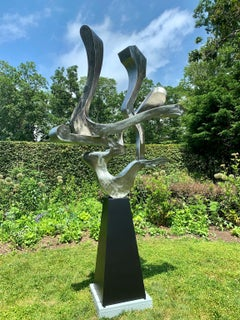 """""""Guided Spirit"""" Unique, Organic, Abstract Metal Sculpture in Steel"""