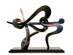 """Midnight Ride (maquette)"" by Kevin Barrett, Unique Bronze Abstract Sculpture"