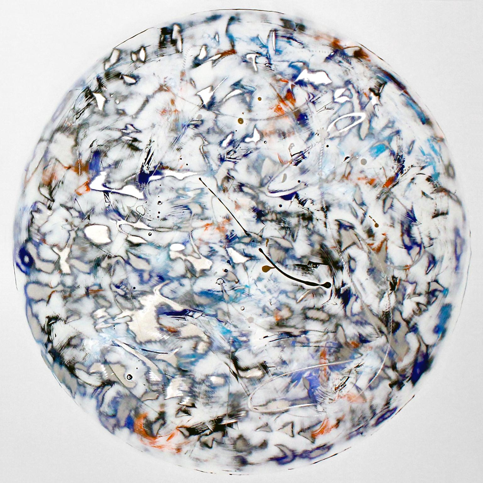 """""""Moonrise"""", Kevin Barrett, Abstract Wall Relief Sculpture in Painted Aluminum"""