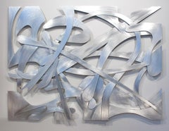 """Regatta"", Large Metal Abstract Wall Relief Sculpture by Kevin Barrett"