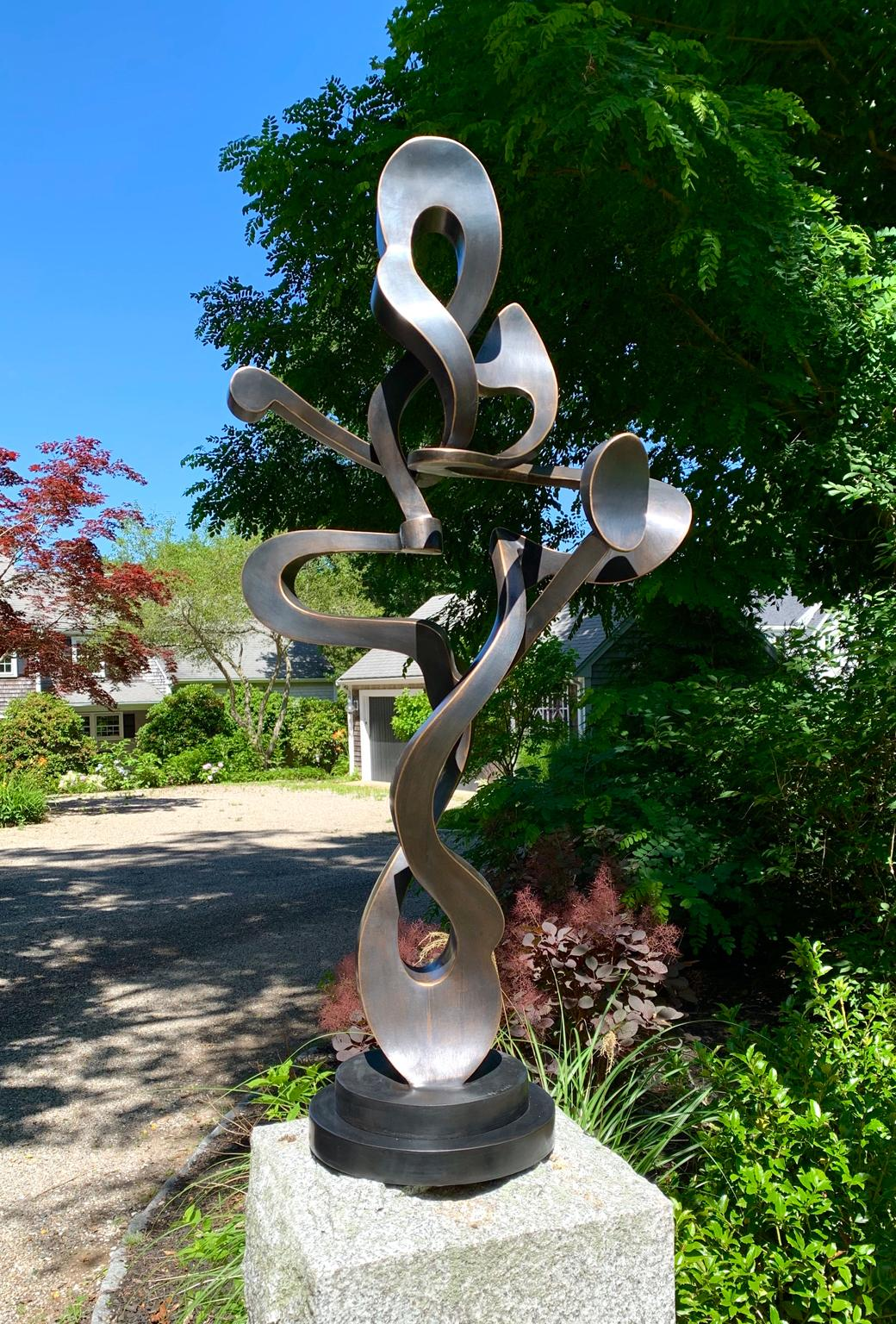 """""""T. Shorty"""" by Kevin Barrett, Unique Bronze Abstract Metal Sculpture"""