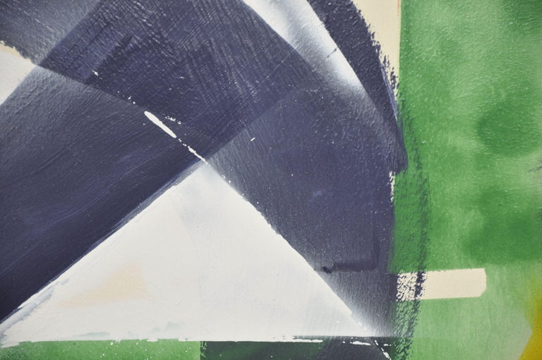 Breaking within- Abstract No.3, Painting, Acrylic on Wood Panel - Gray Abstract Painting by Kevin Brewerton