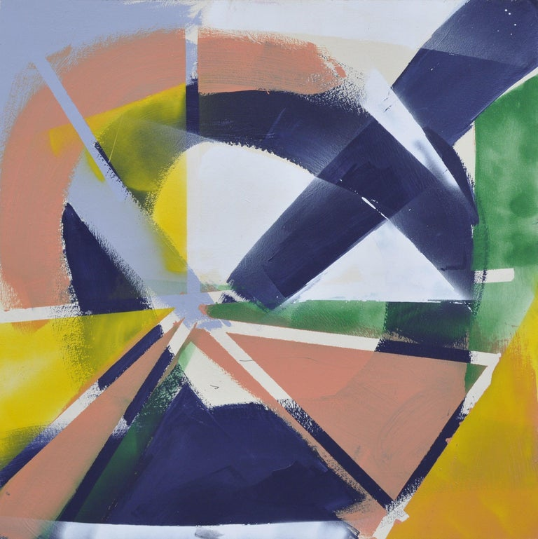 Kevin Brewerton Abstract Painting - Breaking within- Abstract No.3, Painting, Acrylic on Wood Panel