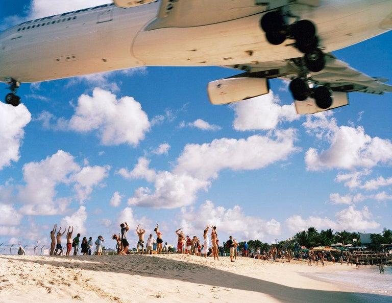 Kevin Cooley Landscape Photograph - Air France Landing St. Maarten