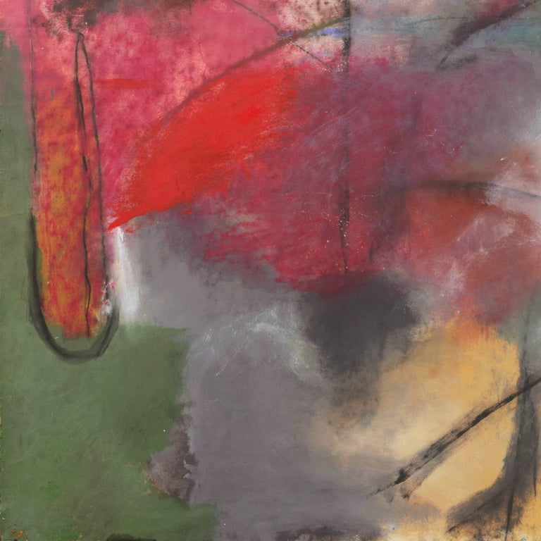 Large Bay Area Oil 'Abstract in Charcoal and Teal', San Francisco Art Institute For Sale 5