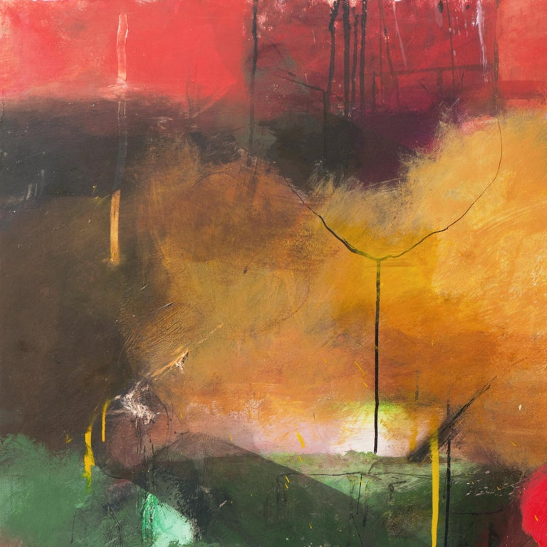 Large Bay Area Oil 'Abstract in Green and Gold', San Francisco Art Institute 1