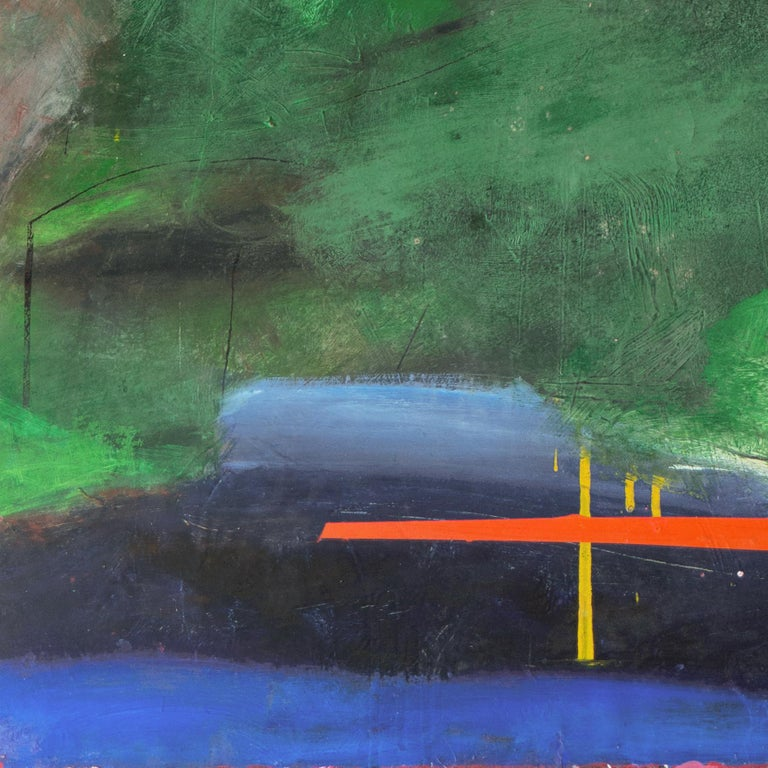 Large Bay Area Oil 'Abstract in Green and Gold', San Francisco Art Institute 2