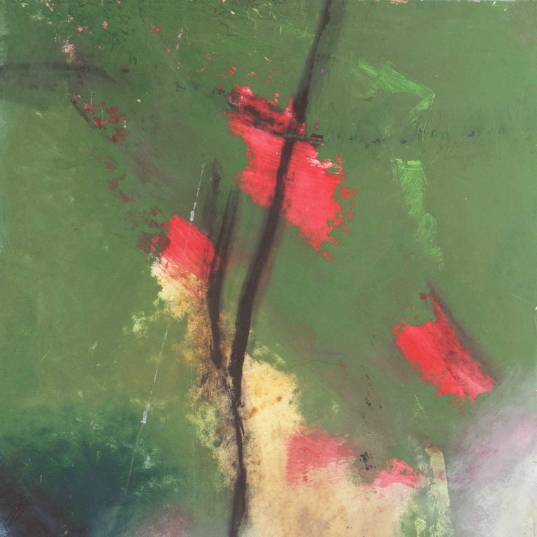 Large Bay Area Oil 'Abstract in Orchid and Jade', San Francisco Art Institute For Sale 5