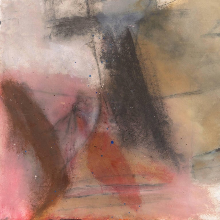Large Bay Area Oil 'Abstract in Rose and Gold', San Francisco Art Institute For Sale 2