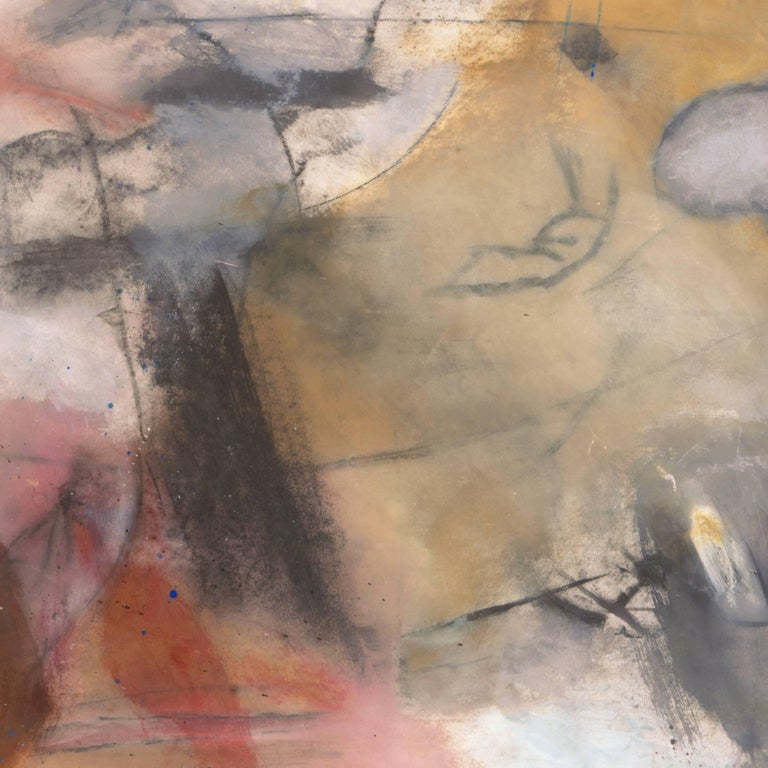 Large Bay Area Oil 'Abstract in Rose and Gold', San Francisco Art Institute For Sale 5