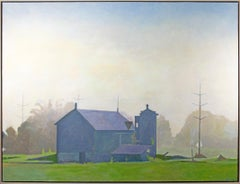 '8 A.M., Faskell Road' original oil landscape painting signed by Kevin Knopp