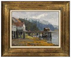 Kevin Macpherson Original Oil Painting On Board Signed Alaska Landscape Artwork