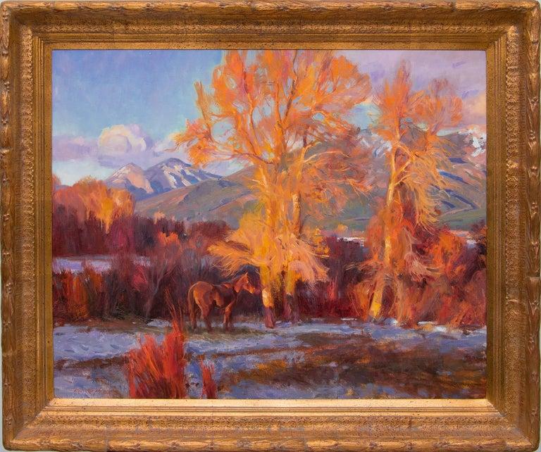 La Ultima Luz De Taos (New Mexico) - Painting by Kevin MacPherson