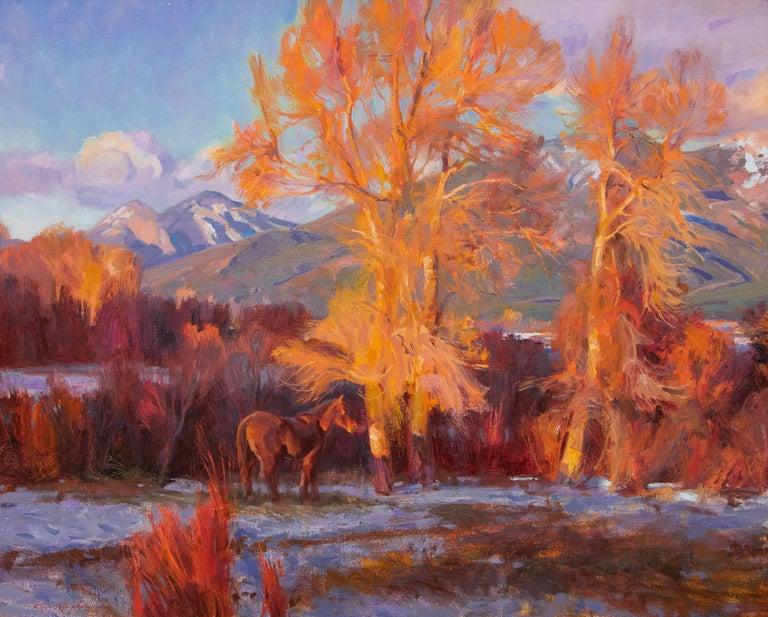 Kevin MacPherson Landscape Painting - La Ultima Luz De Taos (New Mexico)