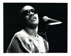Stevie Wonder Performing Vintage Original Photograph